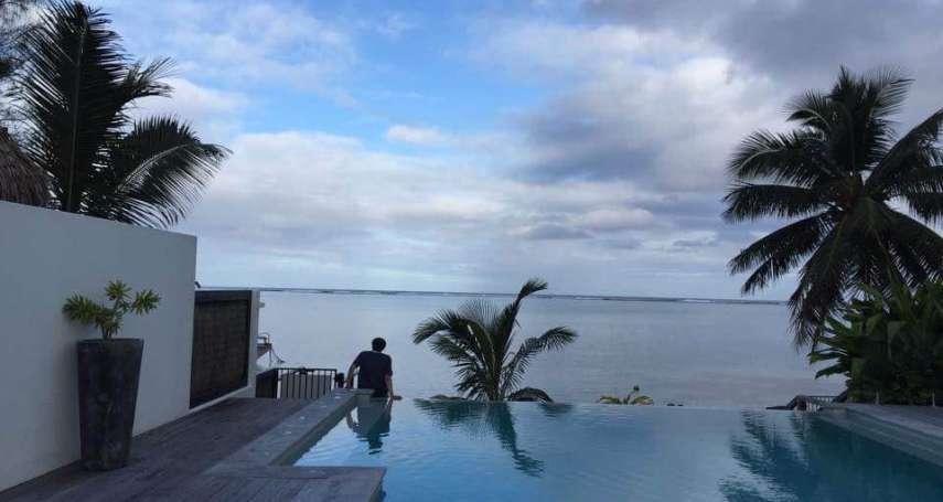 楊偉中今天回家了 9旬楊母臉書貼兒子庫克群島全家福照與「最後孤獨的背影」