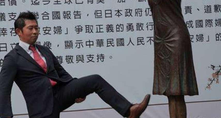踹慰安婦銅像風波,日本道歉了!日保守派團體低頭認錯:藤井實彥已辭職