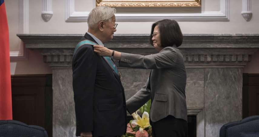 將代表蔡總統出席APEC領袖峰會 張忠謀今獲頒「一等卿雲勳章」