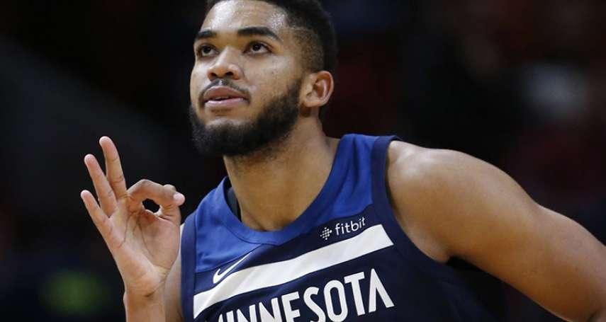 NBA》唐斯拒絕與灰狼簽延長合約 希望球隊處理與巴特勒的矛盾