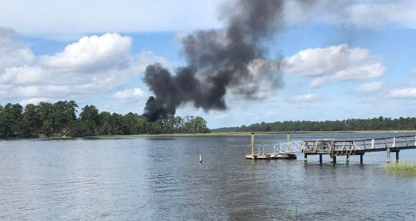35億元化為一團黑煙!美國史上最貴F-35B戰機 驚傳墜毀南卡羅來納州