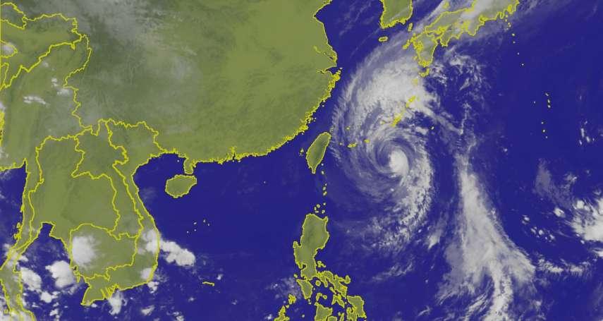 來了!颱風「康芮」今天到明晨最接近台灣,北部及東北部嚴防豪雨