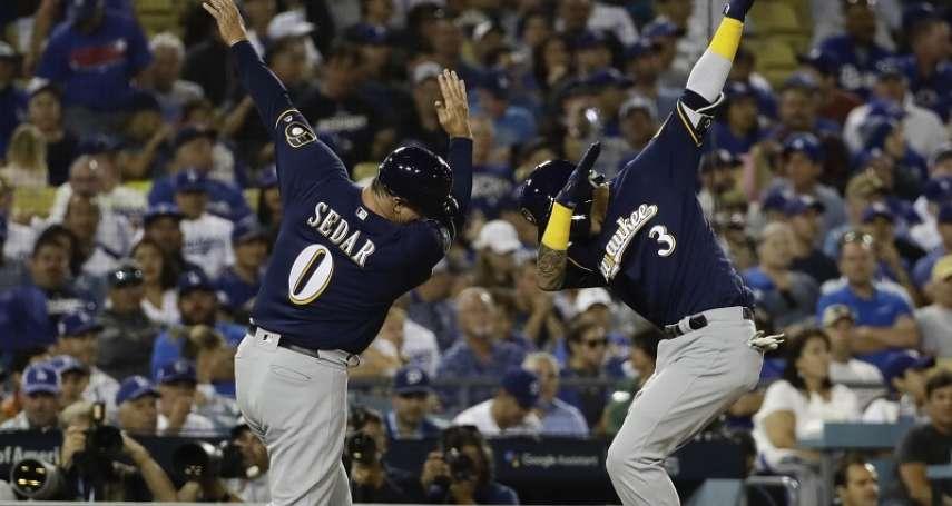 MLB季後賽》阿西亞2分砲拉開比數 釀酒人客場完封道奇