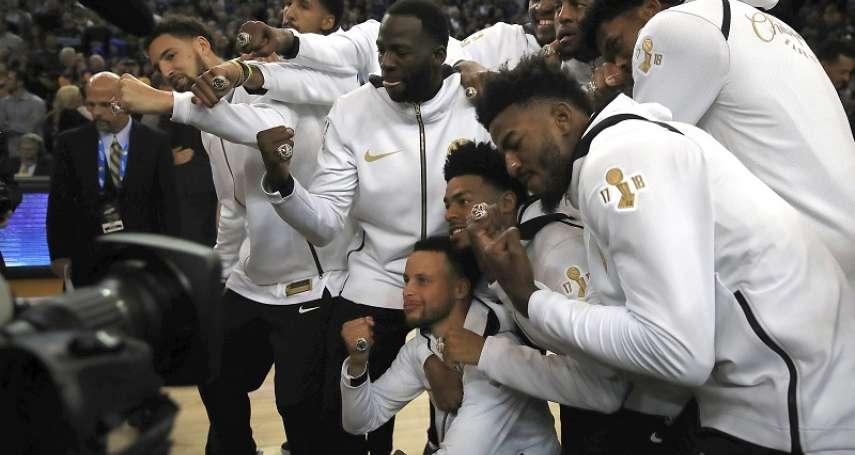 NBA》勇士開幕戰領冠軍戒 戒指當中竟有玄機?!