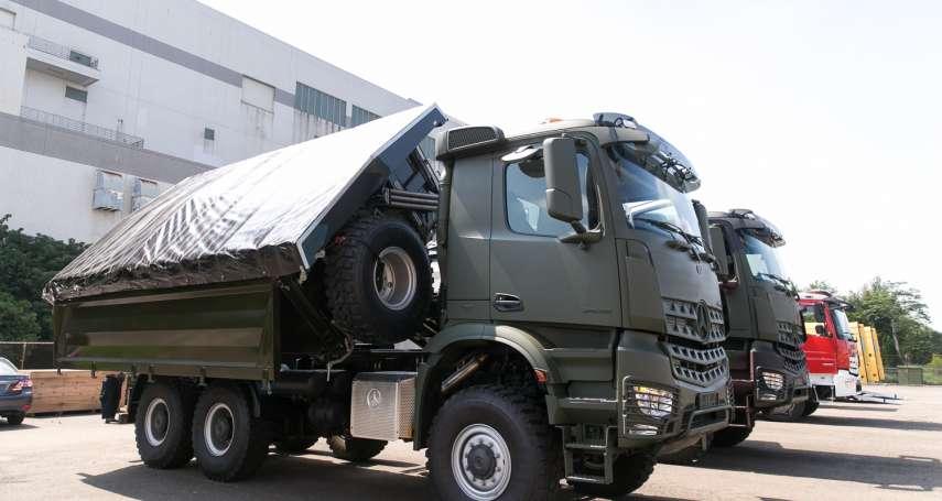 狹小空間執行救難任務!國軍工兵新利器「多角度傾卸車」亮相
