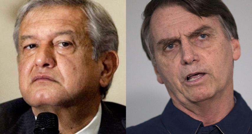 民粹浪潮席捲拉丁美洲》墨西哥民粹健將歐布拉多爾、「巴西川普」博索納羅相繼當選總統