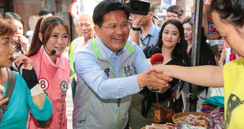 妻陪陳佩琪逛花博 林佳龍:也有邀姚文智,一定支持民進黨候選人