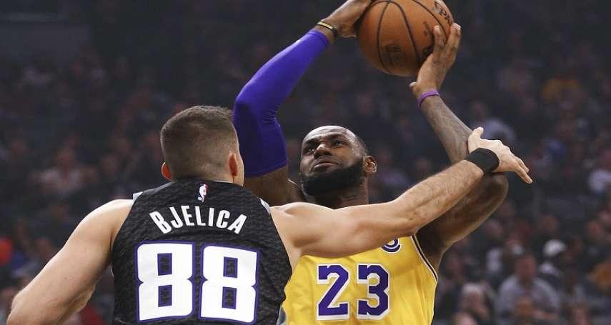 NBA》詹姆斯25分率隊刺殺國王 湖人勝率來到5成