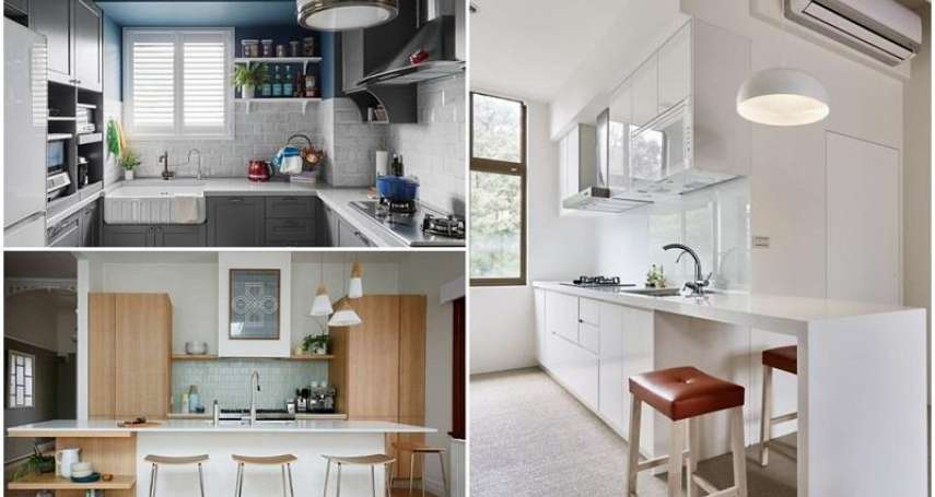 廚房老是好熱、悶到一身汗?專家公開10大「設計秘訣」,換個配色,廚房立刻變清爽!