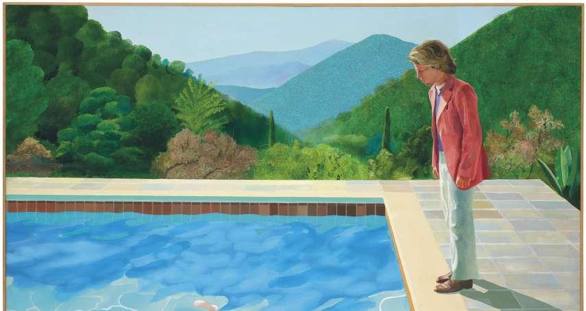 游泳池畔、似水柔情、緣淺男友 英國大師霍克尼創下在世藝術家拍賣新記錄──28億元