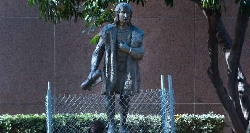 你們的民族英雄,我們的劊子手 洛杉磯拆除哥倫布雕像