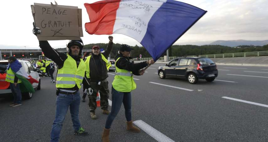推廣綠能也會引發風暴!法國「黃背心」示威反對調漲燃料稅 已釀1死逾500傷