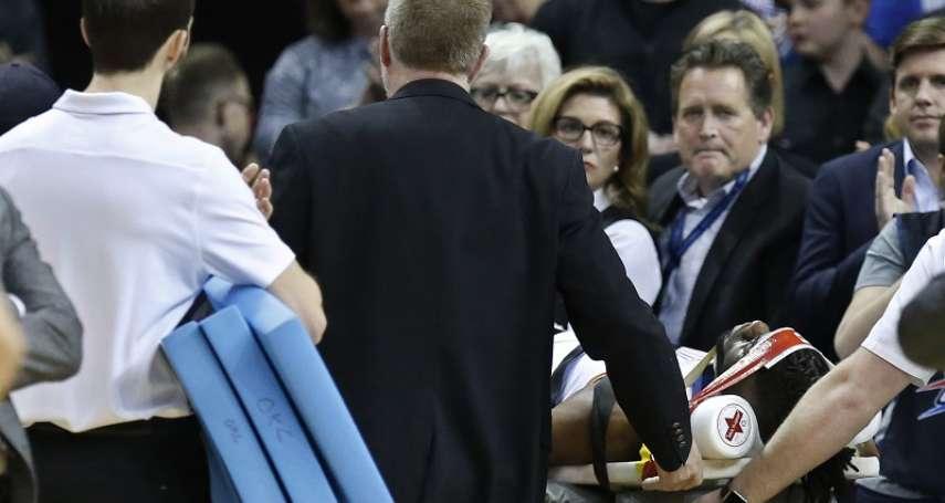 NBA》諾艾爾頭部著地傷退 灰狼險勝雷霆