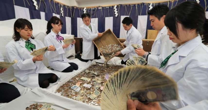有支票也有外幣紙鈔 京都伏見稻荷大社「香油錢開箱」
