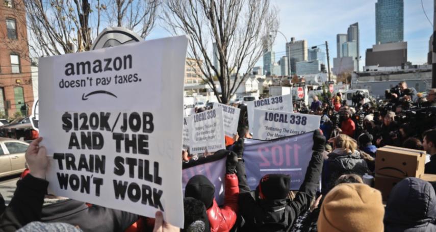 帶來2.5萬個工作機會也不要!紐約市爭勞權爭出名,嚴正拒絕「血汗亞馬遜」落腳!