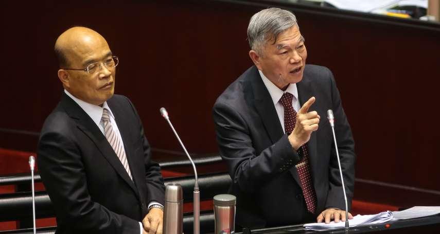 馬英九、江宜樺挑戰蔡政府能源政策 蘇貞昌嗆:不要只講風涼話