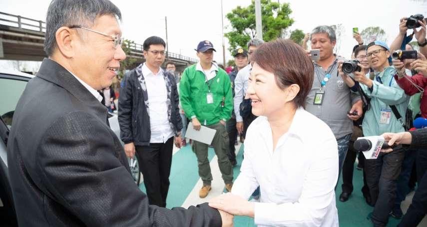 往藍營靠近?盧秀燕陪訪花博 柯文哲:本來就該來 沒什麼拉攏不拉攏