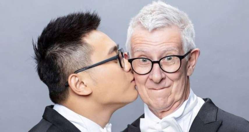 24歲的台灣青年與75歲的英國爺爺……相差51歲的異國男男「爺孫戀」修成正果、踏上紅毯