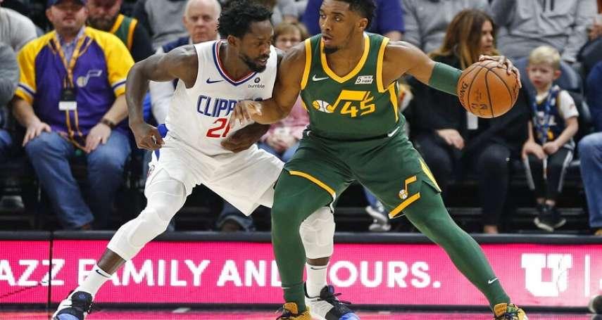 NBA》爵士落後17分照樣逆轉 雙星合砍52分勝快艇
