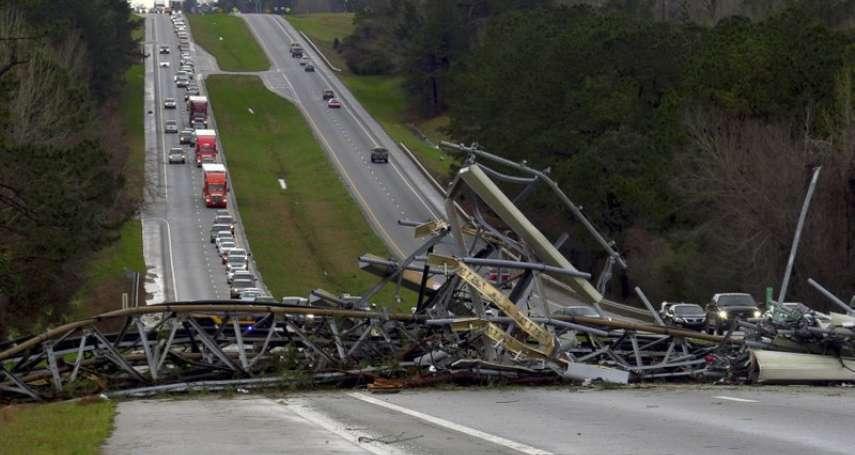 奪命龍捲風肆虐美國東南部》阿拉巴馬州遭重創 至少23死、多人重傷
