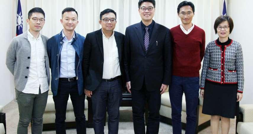 香港泛民派議員拜會陸委會 商討引渡港女命案嫌犯