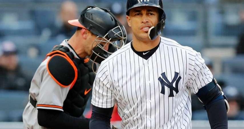 MLB》用全壘打宣示不逃脫合約 史坦頓:在紐約更有家的感覺