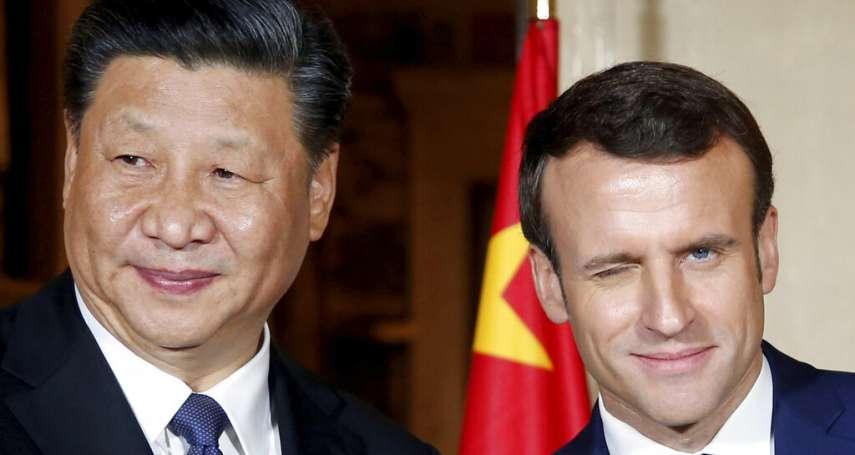 習近平訪法會見馬克宏,藏人、維吾爾人在巴黎示威:中國政府應尊重人權