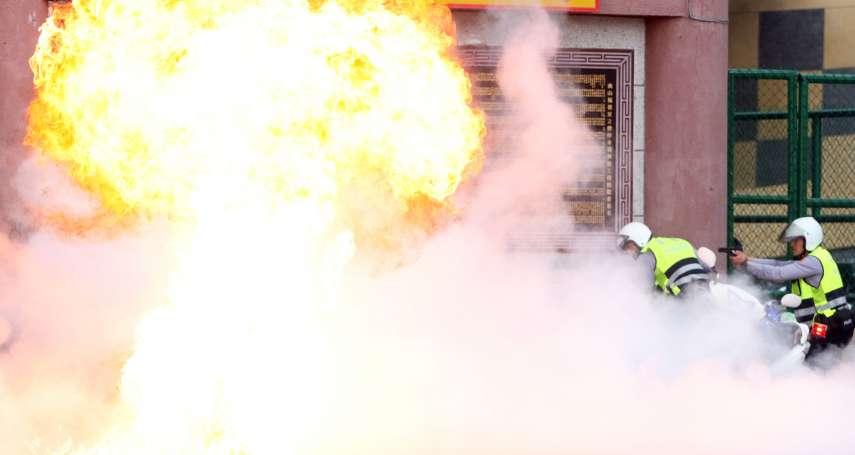 反恐超逼真!爆裂物火光太震撼 警方槍林彈雨救人質