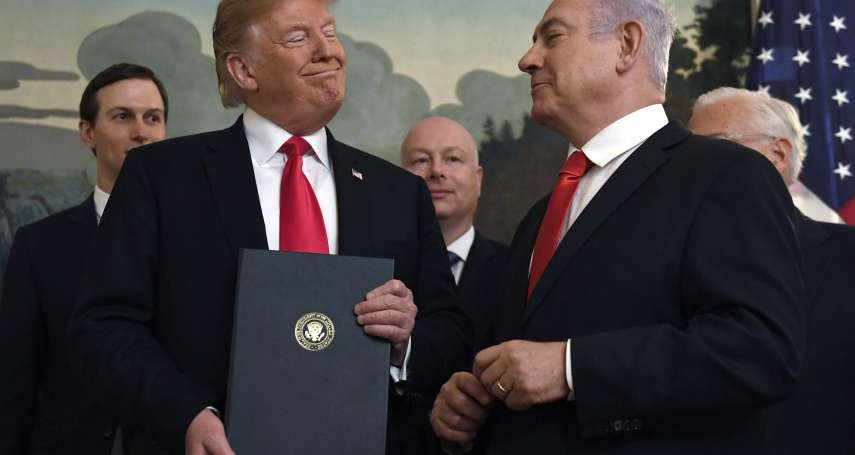 以色列大選在即》川普將公布以巴「和平計畫」 涉嫌為納坦雅胡助選