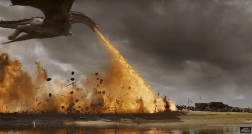 《冰與火》拍巨龍竟是用「真火燒真人」?神劇史詩級製作大揭密!看完真的驚到下巴掉下來