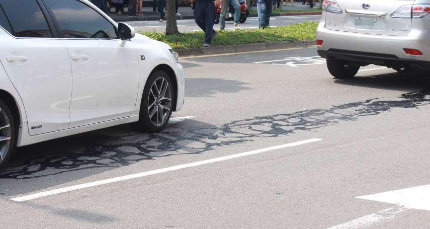 假消息!傳台北松仁路因地震釀路面龜裂 實為修補路面填縫膠