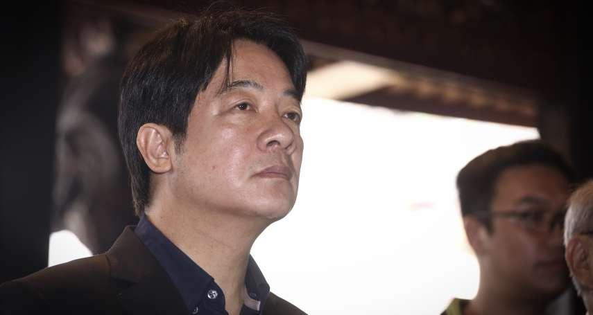 「和平協議無法解決問題」 賴清德:中國要的不是暫時和平而是併吞台灣