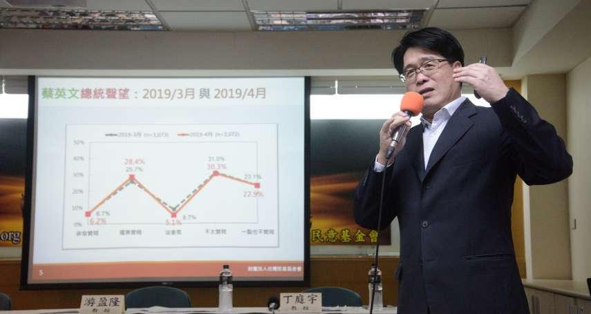 台灣民意基金會民調》賴清德支持度下滑但仍逾5成 游盈隆:蔡英文要跨越差距相當困難