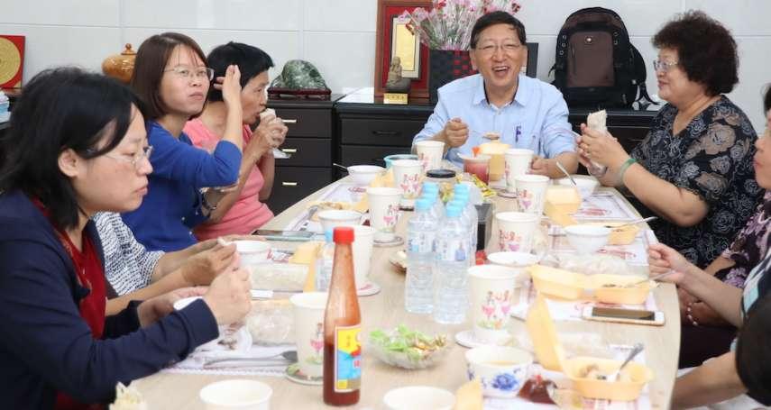 溫馨五月感恩同仁母親 吳榕峯親燉雞湯宴請
