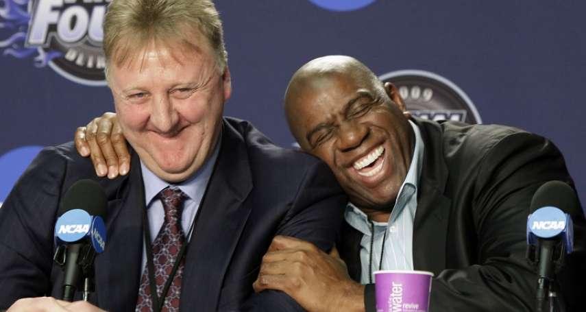 NBA》比肩「指環王」與「大O」 大鳥柏德、魔術強森獲終身成就獎