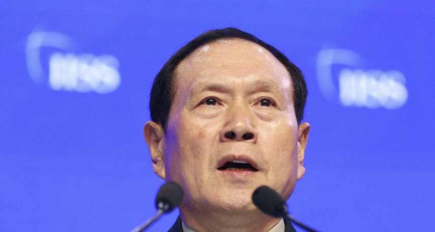 中國國防部長恐嚇武統台灣 陸委會譴責:危害與挑釁和平穩定的禍源