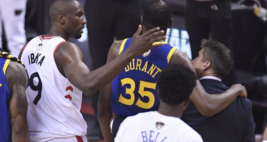 NBA冠軍戰》杜蘭特第5戰復出 第二節再度傷退