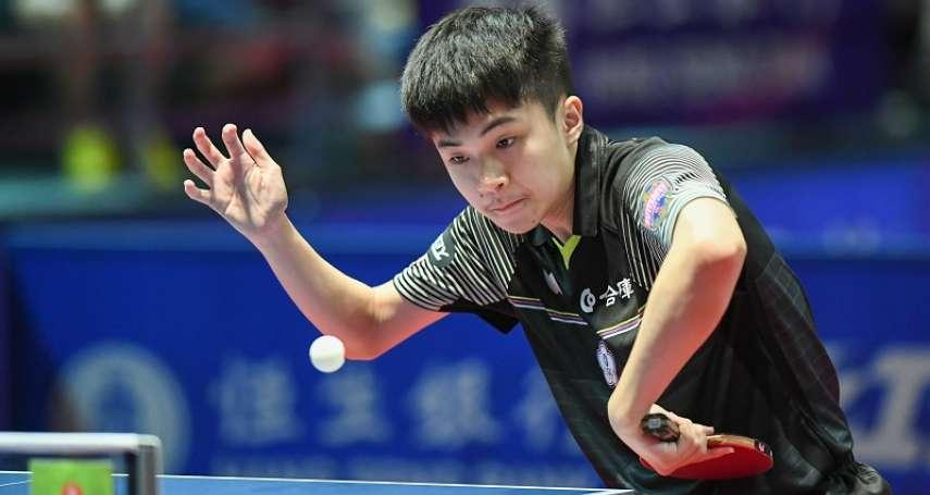 桌球》林昀儒一夫當關摘2勝 中華隊世界桌球團體賽晉8強