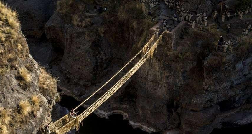 秘魯原住民每年夏天都要重織這座橋,六百多年來均未間斷!古印加帝國流傳至今的手織草橋:世界遺產維斯瓦卡