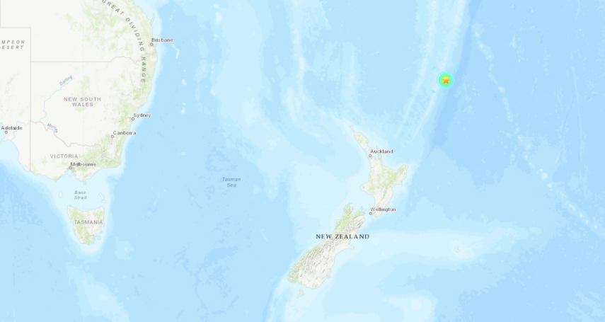 3天連8震!紐西蘭北島外海6.4強震 民防部確認無海嘯威脅