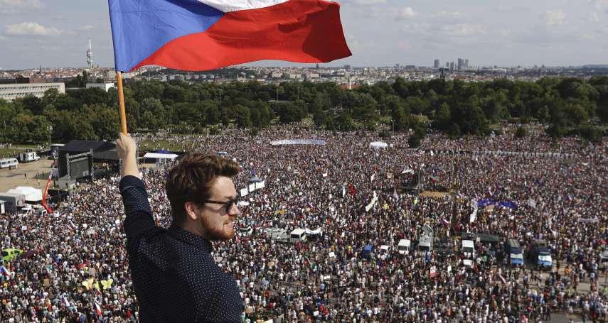 天鵝絨革命後最大抗議》「捷克川普」涉貪 布拉格25萬人怒吼下台:總理巴比什是國家之恥,我們受夠了!