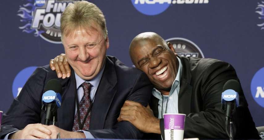 NBA》 「他們讓籃球成為宗教」 大鳥柏德、魔術強森獲頒終身成就獎