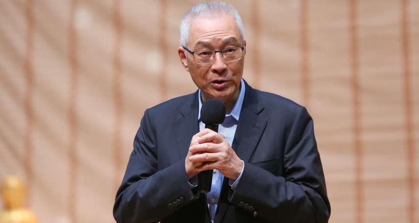「共產黨已逐漸開明」 吳敦義:民進黨指宗教系統遭中國滲透,是搞紅色恐怖