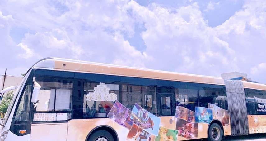 提高民眾達成公車意願 台中獨家推出迪士尼彩繪雙節公車