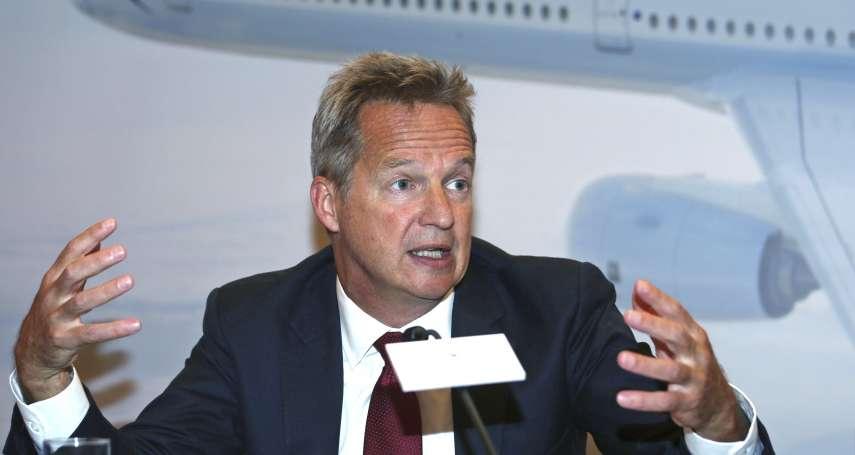 不敵北京壓力?國泰航空英籍執行長何杲辭職 聲明支持一國兩制