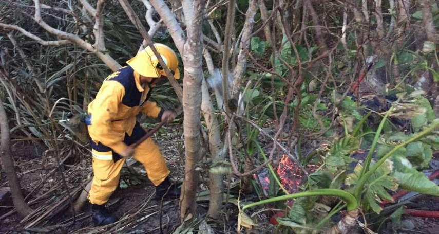 綠島山林大火復燃!延燒27小時才撲滅,林地燒掉近29公頃