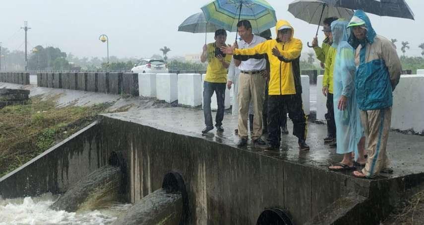 白鹿颱風來襲!高屏全面戒備,韓國瑜、潘孟安視察災防走透透