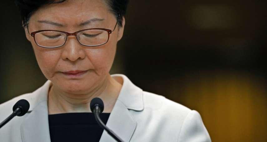香港反送中》路透:林鄭月娥曾建議「撤回」逃犯條例,但北京拒絕!