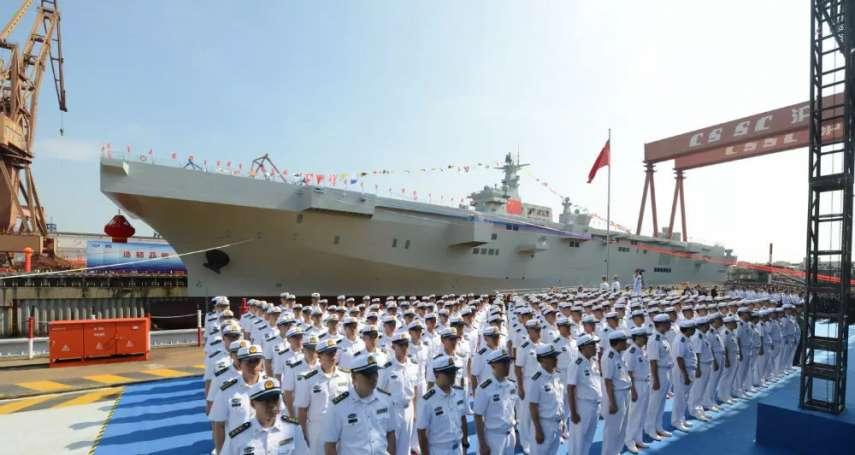 國慶前夕,劍指台灣?中國第一艘「國產兩棲攻擊艦」下水
