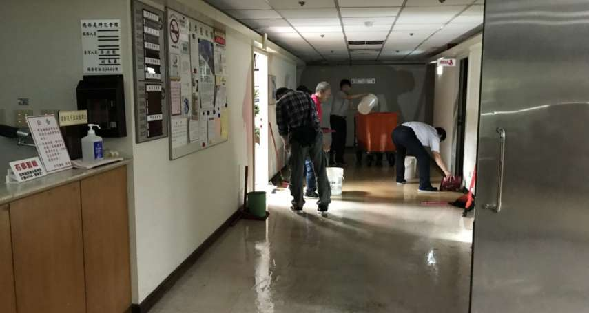 立委辦公室成另類受災戶!工人施工打破水管 立院地下室「淹大水」